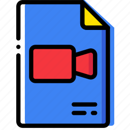 clipboard, document, file, folder, paper, video icon