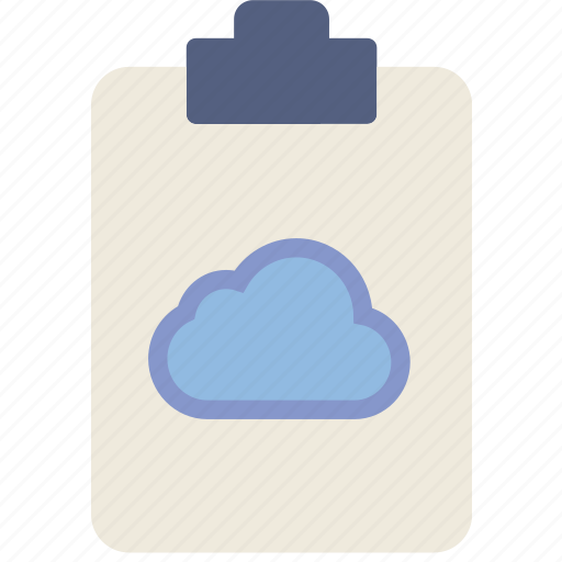 add, cloud, document, file, note, paper, write icon