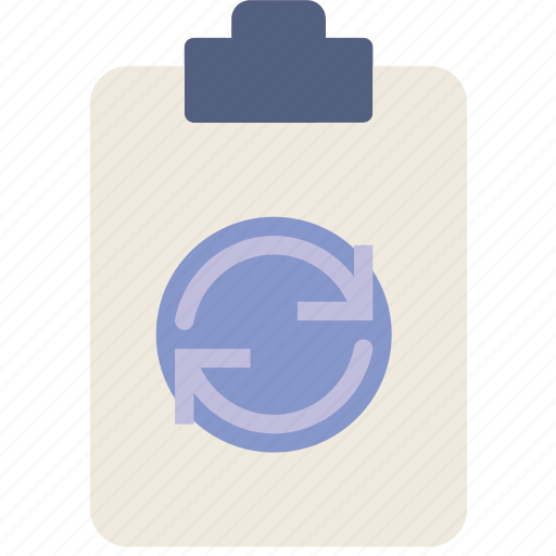 document, file, note, paper, sync, write icon