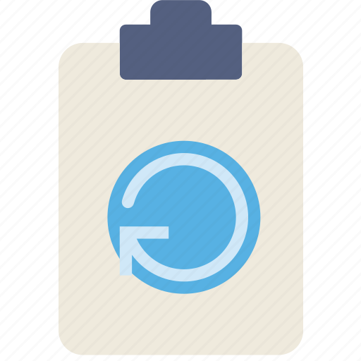document, file, note, paper, refresh, write icon