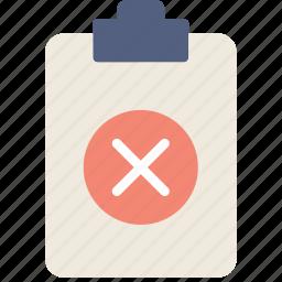 delete, document, file, note, paper, write icon