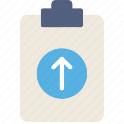 document, file, note, paper, upload, write icon