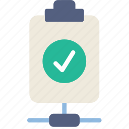 connect, document, file, note, paper, success, write icon