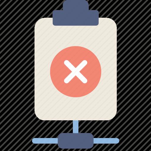 connect, delete, document, file, note, paper, write icon