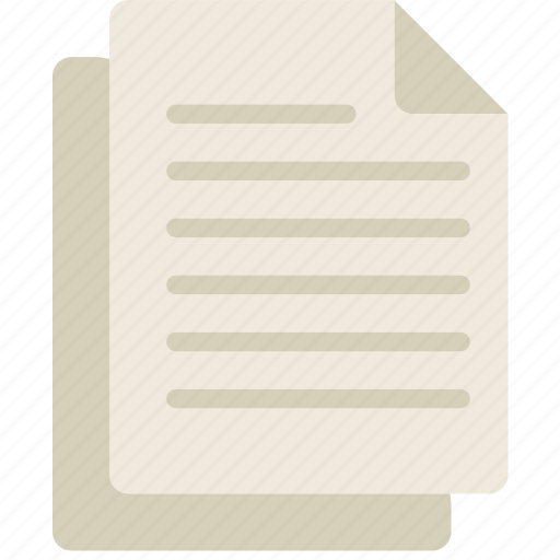 document, files, note, paper, write icon