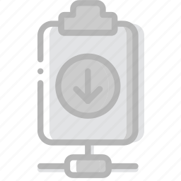 connect, document, download, file, paper, write icon