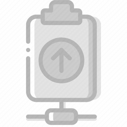 connect, document, file, paper, upload, write icon