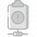 connect, document, file, paper, warning, write icon