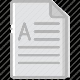 document, docx, file, paper, write icon