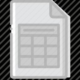document, file, paper, write, xslx icon