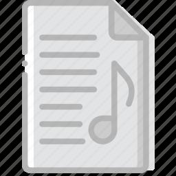 document, file, music, paper, write icon