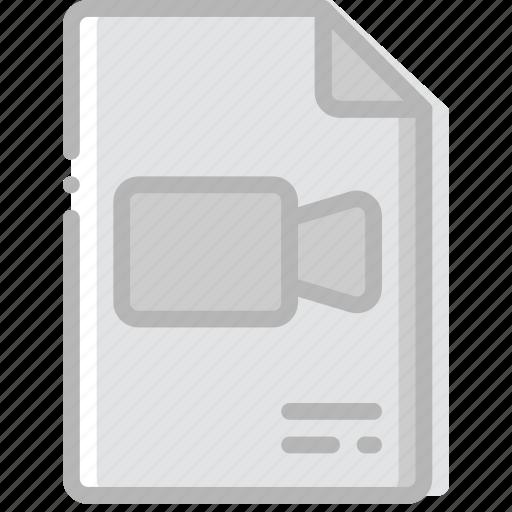 document, file, paper, video, write icon