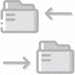 connect, document, folders, paper, write icon
