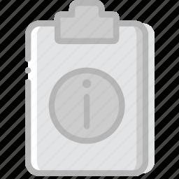document, file, info, paper, write icon