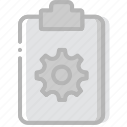document, file, paper, settings, write icon