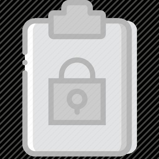 document, file, lock, paper, write icon