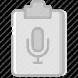 document, file, paper, sound, write icon