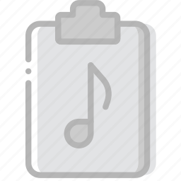 document, file, music, paper, write icon