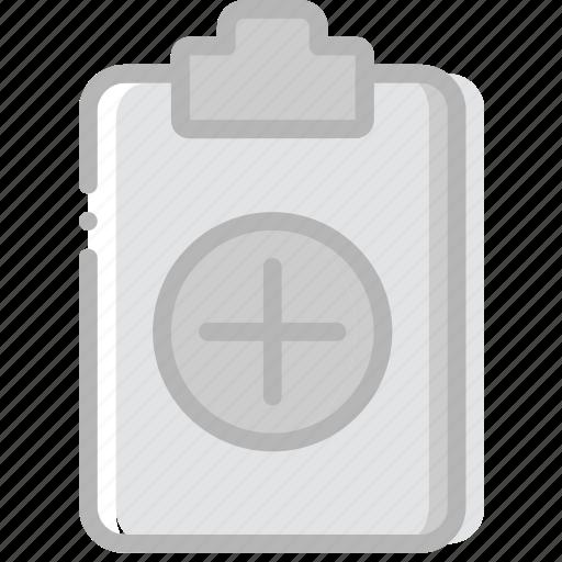 add, document, file, paper, write icon