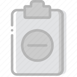 document, file, paper, substract, write icon