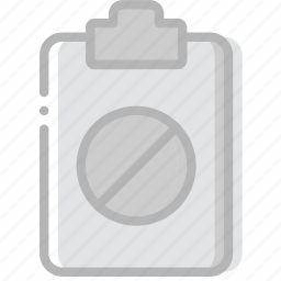 document, file, forbidden, paper, write icon