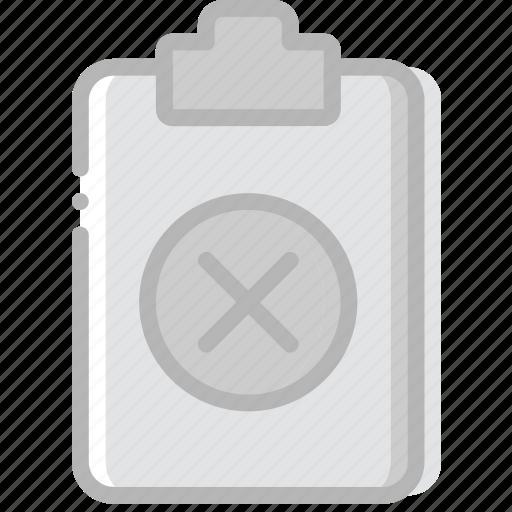delete, document, file, paper, write icon