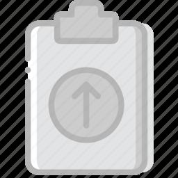 document, file, paper, upload, write icon