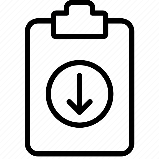 document, download, file, note, paper, write icon