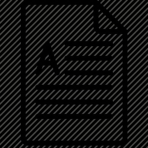 document, docx, file, note, paper, write icon