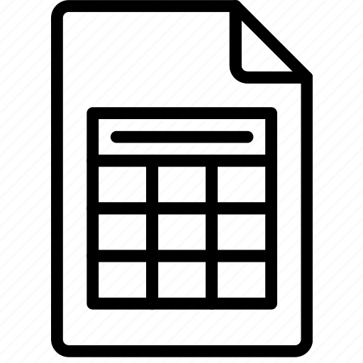 document, file, note, paper, write, xslx icon