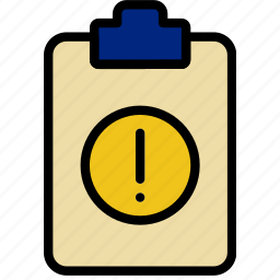 document, file, note, paper, warning, write icon