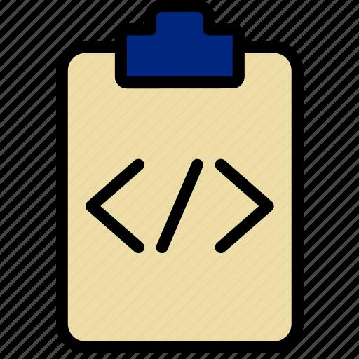 code, document, file, note, paper, write icon
