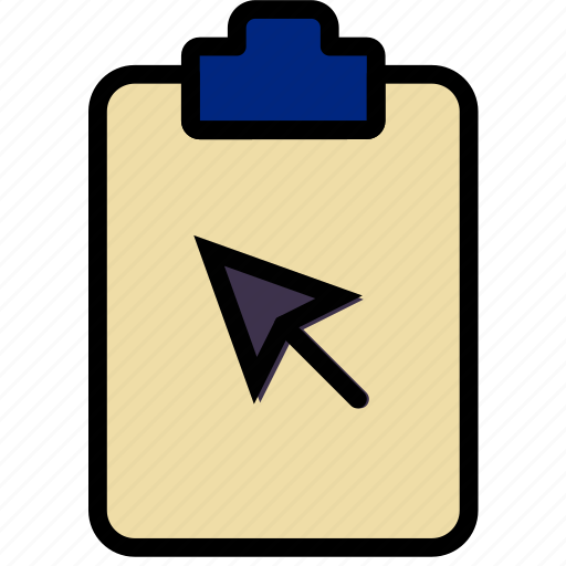 click, document, file, note, paper, write icon