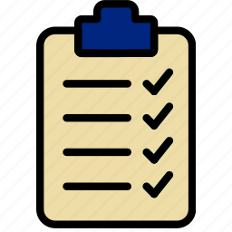 check, document, list, note, paper, write icon
