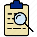 document, file, note, paper, search, write icon