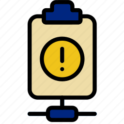 connect, document, file, note, paper, warning, write icon