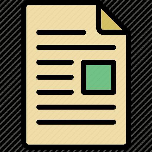content, document, file, note, paper, write icon