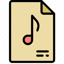 document, file, music, note, paper, write icon