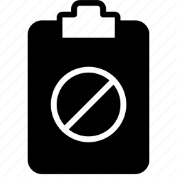 document, file, forbidden, note, paper, write icon