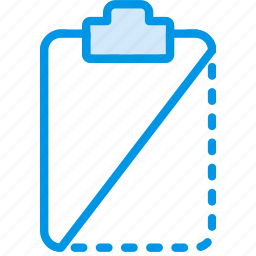 cut, document, file, note, paper, write icon