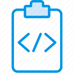 code, document, file, note, paper, write icon