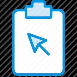 click, document, file, note, paper, write icon