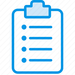 document, file, note, ordered, paper, write icon