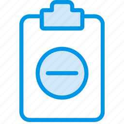 document, file, note, paper, substract, write icon