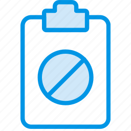 document, file, forbidden, note, paper, write icon