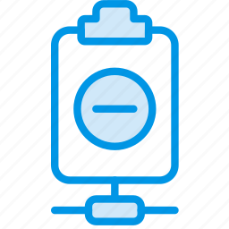 connect, document, file, note, paper, substract, write icon