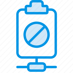 connect, document, file, forbidden, note, paper, write icon