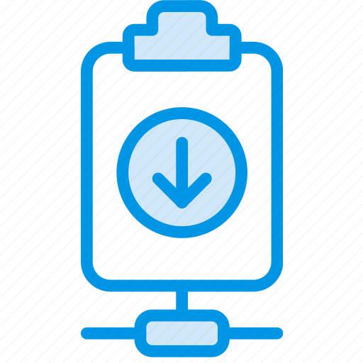 connect, document, download, file, note, paper, write icon