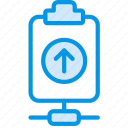 connect, document, file, note, paper, upload, write icon