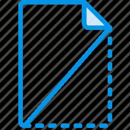 cut, document, file, note, paper, write icon
